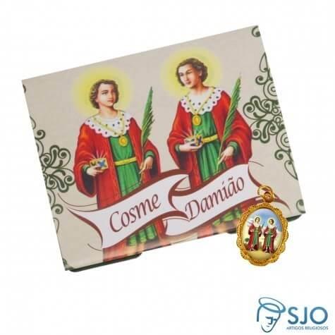 100 Cartões com Medalha de São Cosme e Damião