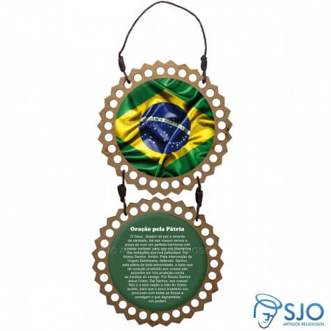 Adorno de porta Bandeira do Brasil - Redondo