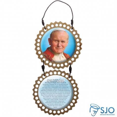 Adorno de porta redondo duas peças - João Paulo II