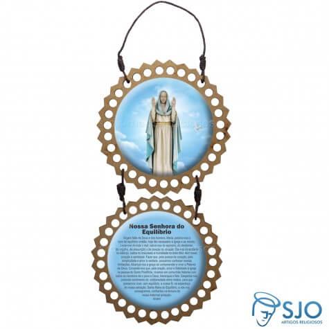 Adorno de porta redondo duas peças - Nossa Senhora do Equilíbrio