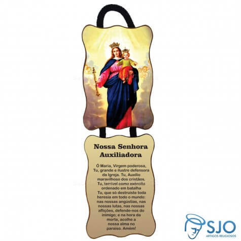 Adorno de Porta Retangular - Nossa Senhora Auxiliadora