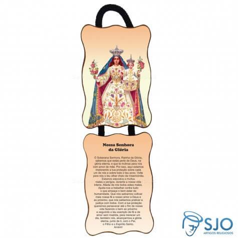 Adorno de Porta Retangular - Nossa Senhora da Glória