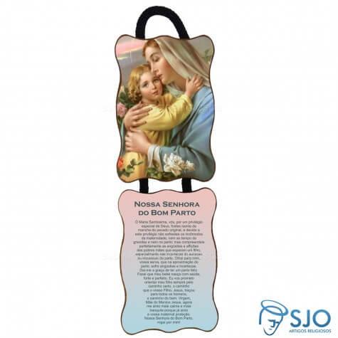 Adorno de Porta Retangular - Nossa Senhora do Bom Parto