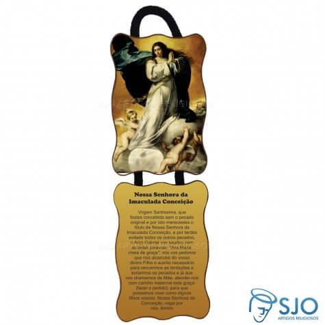 Adorno de Porta Retangular - Nossa Senhora da Imaculada Conceição - Mod 02