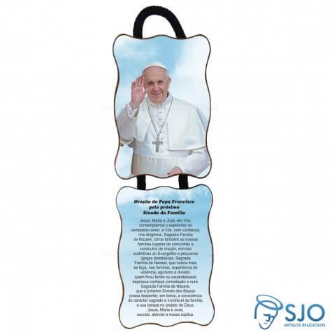 Adorno de porta retangular - Papa Francisco