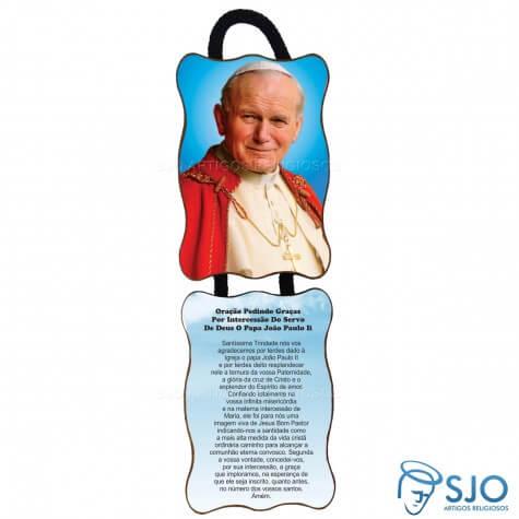 Adorno de porta retangular duas pe�as - Jo�o Paulo II