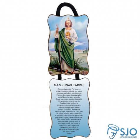Adorno de porta retangular duas peças - São Judas Tadeu