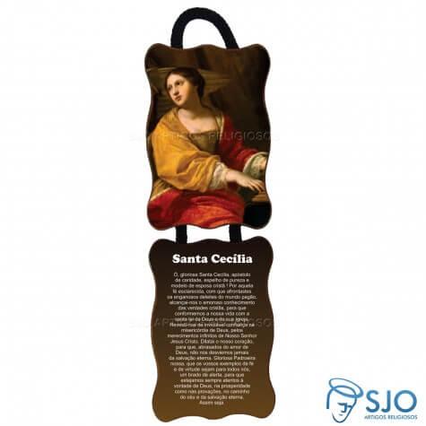 Adorno de porta retangular - Santa Cec�lia