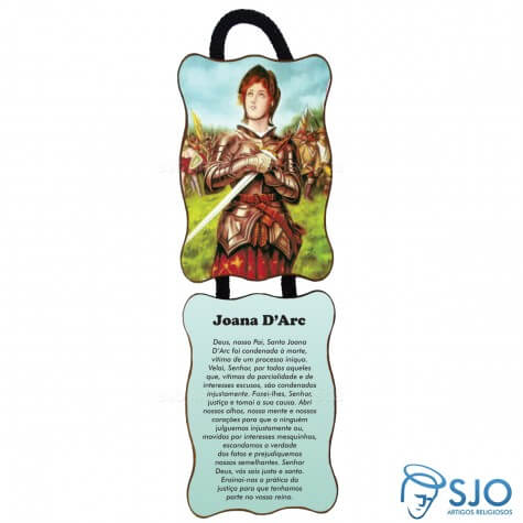 Adorno de porta retangular - Santa Joana D'Arc