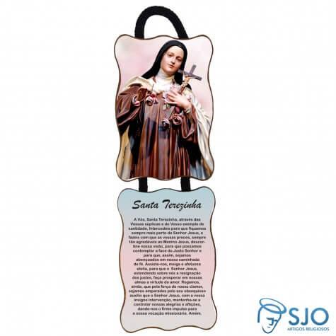 Adorno de porta retangular - Santa Terezinha