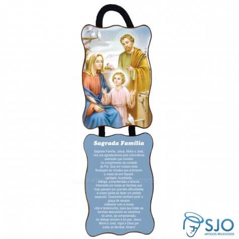 Adorno de Porta Retangular - Sagrada Família - Mod 02