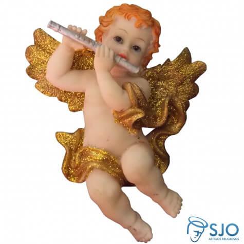 Anjo com Asa de Acrílico Dourado - 9 cm