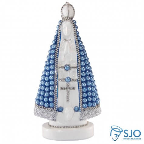 Nossa Senhora Aparecida em P�rola Azul - 20 cm