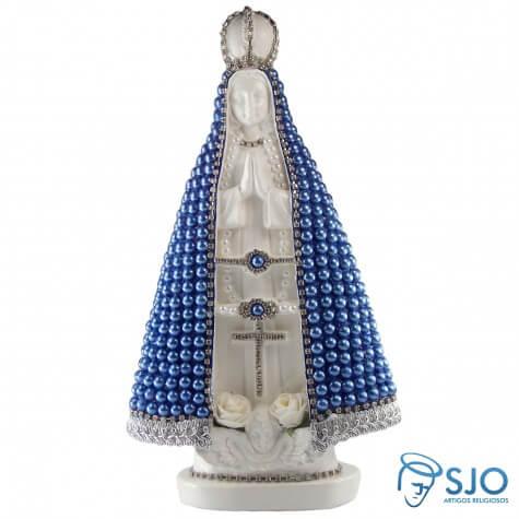 Nossa Senhora Aparecida em P�rola Azul - 30 cm