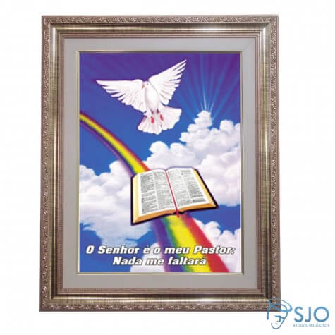 Quadro - Mensagem B�blica - Modelo 1 - 52 cm x 42 cm