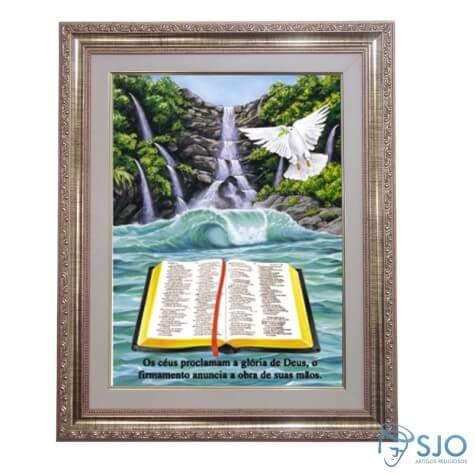 Quadro - Mensagem Bíblica - Modelo 2 - 52 cm x 42 cm