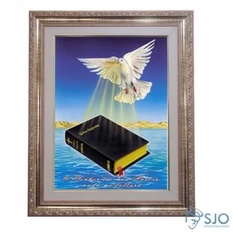 Quadro - Mensagem Bíblica - Modelo 3 - 52 cm x 42 cm