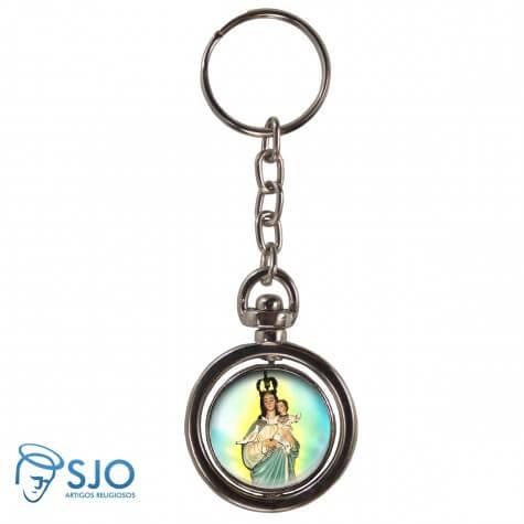 Chaveiro Redondo Girat�rio - Nossa Senhora da Boa Esperan�a