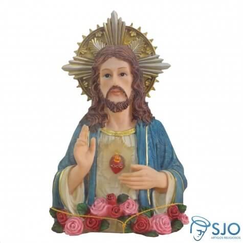 Busto Sagrado Cora��o de Jesus - 24 cm