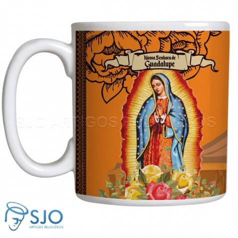 Caneca Nossa Senhora de Guadalupe com Ora��o