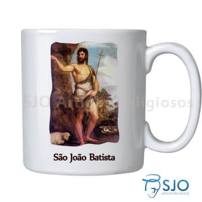 Caneca São João Batista com Oração