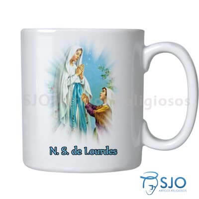 Caneca Nossa Senhora de Lourdes com Oração
