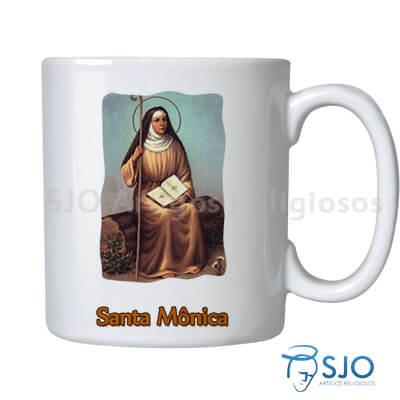 Caneca Santa M�nica com Ora��o