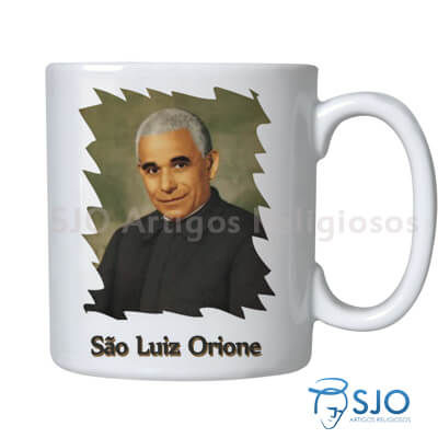 Caneca São Luiz Orione com Oração