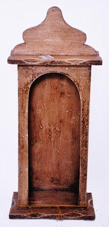Capela de madeira PP Fina sem porta - 35 cm