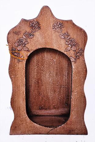 Capela de madeira p/ Lisa com Vidro - 40 cm