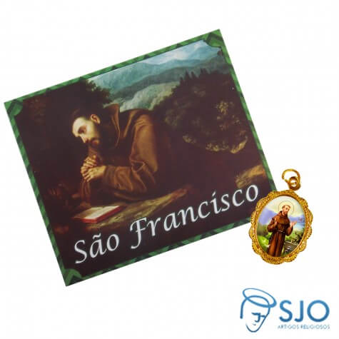 100 Cart�es com Medalha de S�o Francisco de Assis
