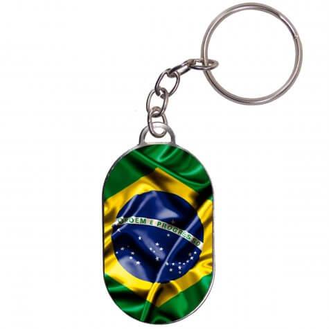 Chaveiro Chapinha - Bandeira Brasil - Modelo 2