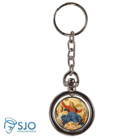 Chaveiro Redondo Girat�rio - Nossa Senhora da Assun��o