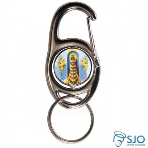 Chaveiro Mosquetão Giratório Nossa Senhora do Loreto