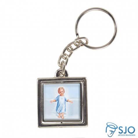 Chaveiro Quadrado Giratório do Menino Jesus - Modelo 1