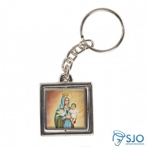 Chaveiro Quadrado Giratório de Nossa Senhora da Boa Esperança