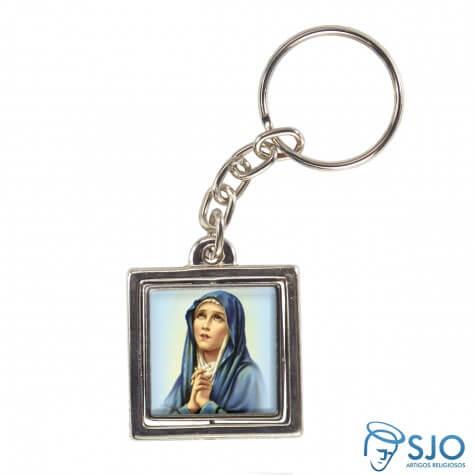 Chaveiro Quadrado Giratório de Nossa Senhora das Dores