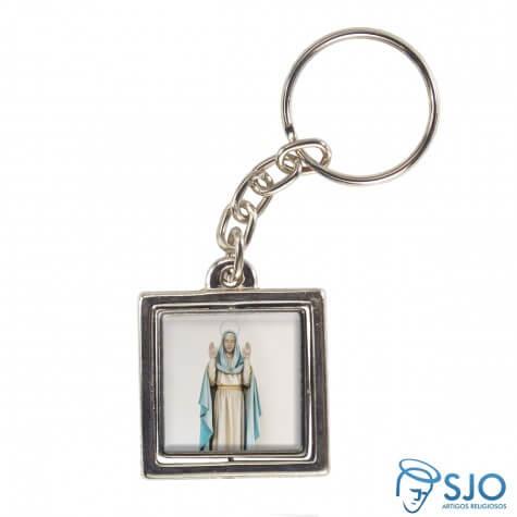 Chaveiro Quadrado Giratório de Nossa Senhora do Equilíbrio