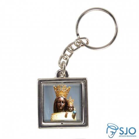 Chaveiro Quadrado Girat�rio de Nossa Senhora do Loreto