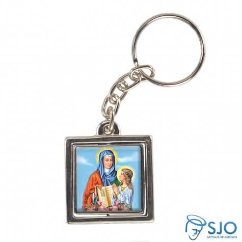 Chaveiro Quadrado Giratório de Nossa Senhora de Santana