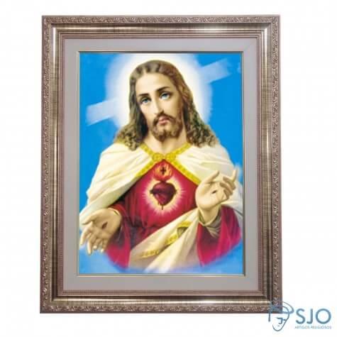 Quadro - Sagrado Coração de Jesus - Modelo 2 - 52 cm x 42 cm