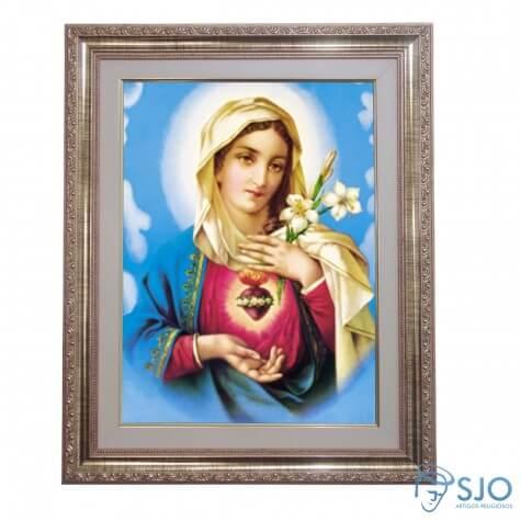 Quadro - Sagrado Cora��o de Maria - Modelo 2 - 52 cm x 42 cm