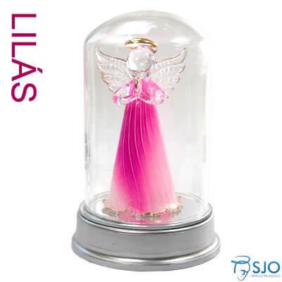 Anjo com Luz na Redoma - 13 cm