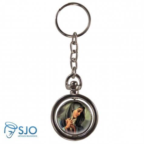 Chaveiro Redondo Giratório - Nossa Senhora das Dores - Modelo 2