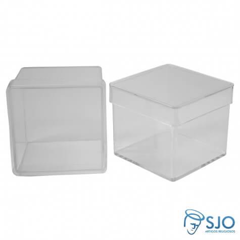 50 Caixinhas de Acrílico 5 x 5 - Transparente