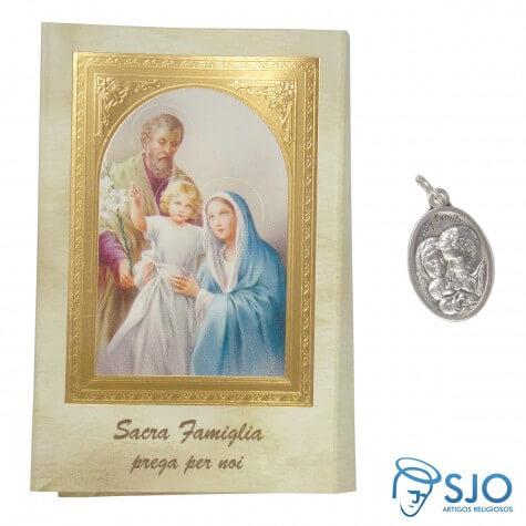 Cartão com Medalha Italiana da Sagrada Família