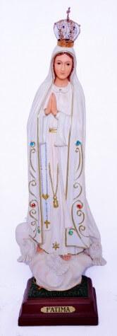 Imagem de resina Nossa Senhora de Fátima - 40 cm