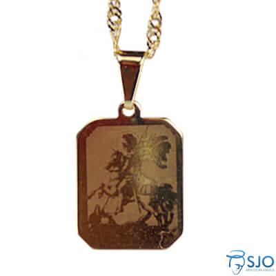 Medalha Folheada a Ouro São Jorge