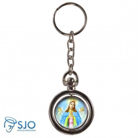 Chaveiro Redondo Girat�rio - Nossa Senhora da Guia