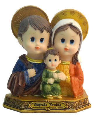 Imagem Infantil da Sagrada Fam�lia - 15 cm